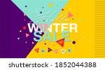 winter sale banner   vector... | Shutterstock .eps vector #1852044388