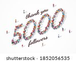 5k followers. group of business ... | Shutterstock .eps vector #1852056535