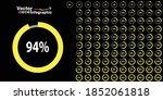percentage green  circle...