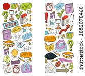 doodle vector pattern.... | Shutterstock .eps vector #1852078468