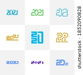 set of 2021 logo vector... | Shutterstock .eps vector #1852090828