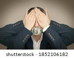 Businessman Closed His Eyes And ...