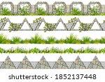 set of seamless border old gray ...   Shutterstock .eps vector #1852137448