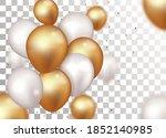 celebration banner with gold...   Shutterstock .eps vector #1852140985
