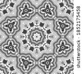 seamless pattern with floral... | Shutterstock . vector #1852175458