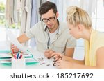 two fashion designers... | Shutterstock . vector #185217692