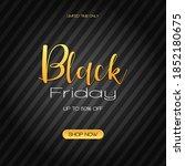 black friday sale inscription... | Shutterstock .eps vector #1852180675