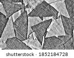 grunge texture of rough fabric...   Shutterstock .eps vector #1852184728