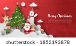 merry christmas and happy new... | Shutterstock .eps vector #1852193878