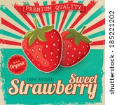colorful vintage strawberry...