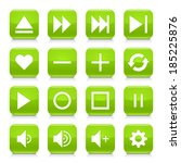 16 media control icon set 06.... | Shutterstock .eps vector #185225876