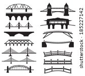 bridge icons set  | Shutterstock .eps vector #185227142