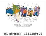 vector illustration with trendy ... | Shutterstock .eps vector #1852289608