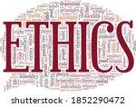Ethics Vector Illustration Word ...