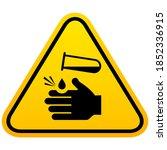chemical burn hazard vector...   Shutterstock .eps vector #1852336915