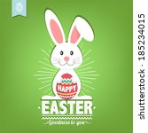 happy easter typographical... | Shutterstock .eps vector #185234015