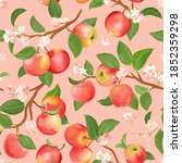 watercolor floral apple... | Shutterstock .eps vector #1852359298