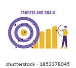 concept of goals or targets ... | Shutterstock .eps vector #1852378045