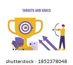 concept of goals or targets ... | Shutterstock .eps vector #1852378048