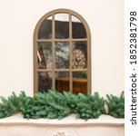 Arch Window Decorated With...