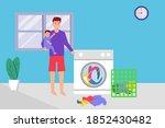 single parent vector concept ... | Shutterstock .eps vector #1852430482