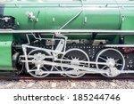 Steam train wheel - stock photo
