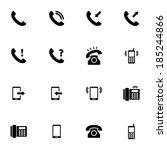 Vector Black Telephone Icons...