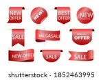 label sales in different shapes ...   Shutterstock .eps vector #1852463995
