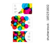 set of business cards designs... | Shutterstock .eps vector #185251832