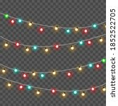 christmas lights isolated on... | Shutterstock .eps vector #1852522705