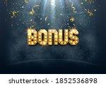shining sign bonus with falling ...   Shutterstock .eps vector #1852536898