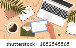 envelopes  letters  postcards...   Shutterstock .eps vector #1852545565