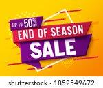 sale discount vector banner... | Shutterstock .eps vector #1852549672