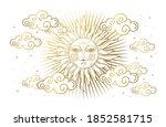 magic banner for astrology ...   Shutterstock .eps vector #1852581715
