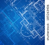 urban blueprint  vector .... | Shutterstock .eps vector #185263406