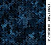 dark blue night colored... | Shutterstock .eps vector #1852658035