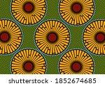 african wax print fabric ... | Shutterstock .eps vector #1852674685