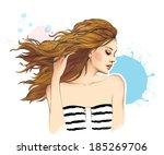 beautiful woman | Shutterstock . vector #185269706