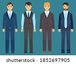 collection of vector cartoon... | Shutterstock .eps vector #1852697905