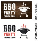 bbq grill party event... | Shutterstock .eps vector #1852701538