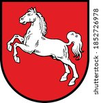 coat of arms of lower saxony  ...   Shutterstock .eps vector #1852726978