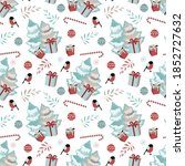 merry christmas  happy new year ... | Shutterstock .eps vector #1852727632