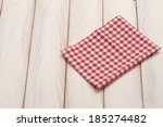 plaid cloth on picnic table... | Shutterstock . vector #185274482