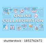 online collaboration word...