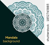 mandala design.background for... | Shutterstock .eps vector #1852765885