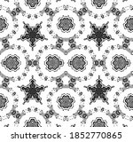 seamless pattern with floral... | Shutterstock . vector #1852770865