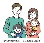 bust up illustration of a... | Shutterstock .eps vector #1852816015
