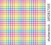 Rainbow Plaid Seamless Pattern  ...