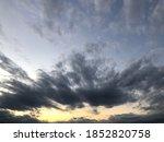 Dusk Sky Majestic Sunset With...