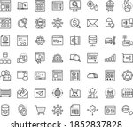 thin outline vector icon set...   Shutterstock .eps vector #1852837828